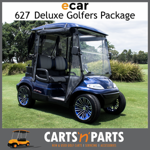 Ecar AC POWER DELUXE 2 Seat NEW GOLF CART Buggy 627 Series Full Deluxe Package Navy Blue Custom Seats Custom Wheels-New Golf Carts-Carts N Parts