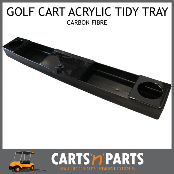 Acrylic Carbon Fibre Front Tidy Tray Universal Golf Cart Buggy-Parts & Accessories-Carts N Parts