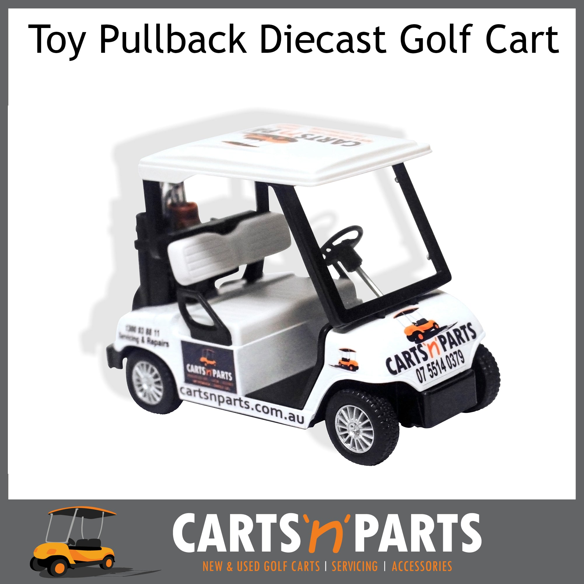 TOY Golf Cart pull back Diecast motor CARTSNPARTS