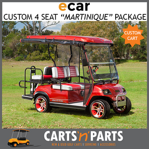 ECAR Custom Martinique 4 Seat Custom Mags Custom Seats Sports Steering Wheel Unique 3 Way Seat Golf Cart Buggy-New Golf Carts-Carts N Parts