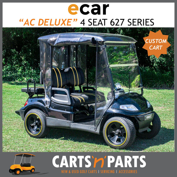 ECAR AC POWER DELUXE 4 SEAT CUSTOM GOLF CART BUGGY 627 SERIES FULL DELUXE PACKAGE-New Golf Carts-Carts N Parts