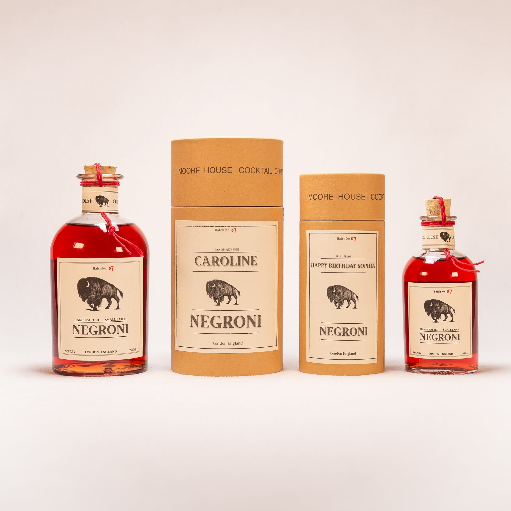 Personalised Negroni Classic 100 ML Individual Serving