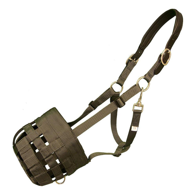 Best Friend Padded Leather Crown Deluxe Grazing Muzzle