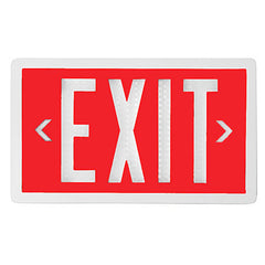 20-Year Self Luminous Exit Sign - Single Sided