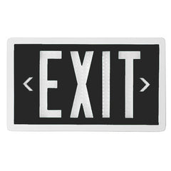 Double Sided Black Self Luminous Exit Sign