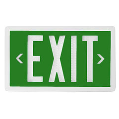 Single Sided Green Self Luminous Exit Sign