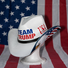 Load image into Gallery viewer, Team Trump Patriot Bald Eagle Hat