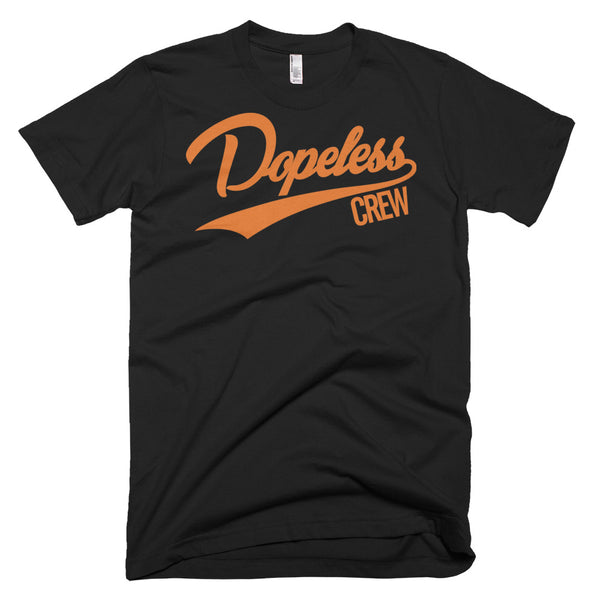 Dopeless Crew tee shirt 3 different colors orange letters