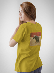 Womens Mustard Blind Ambition Tee