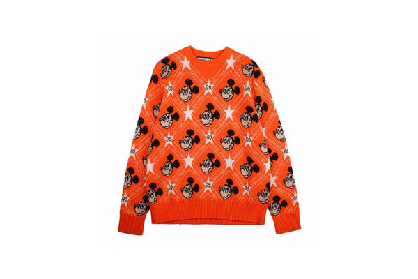 Gucci x disney Mickey wool cardigan Orange