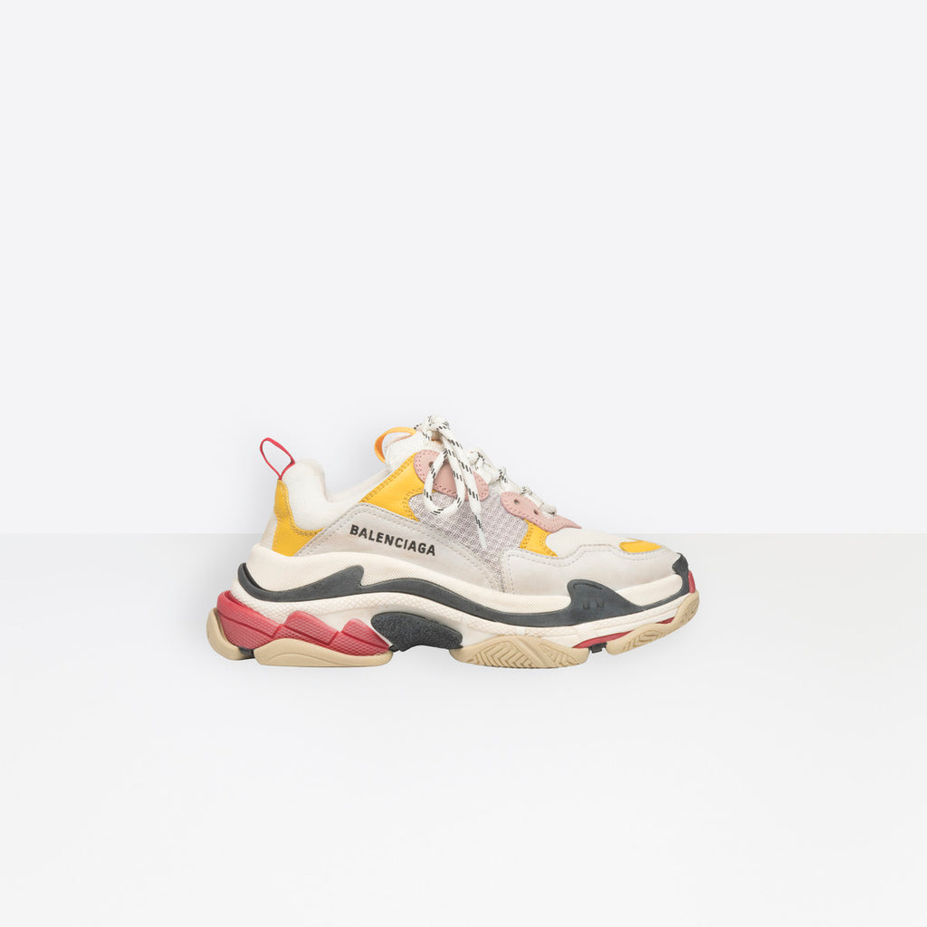 Balenciaga  Triple S-White, Yellow And Pink
