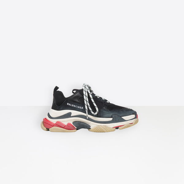 Balenciaga  Triple S-Black, White And Red
