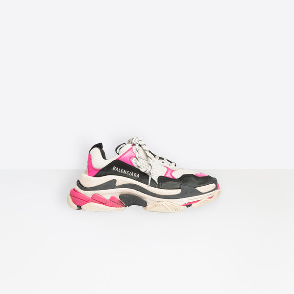 Balenciaga  Triple S-Pink, Black And White