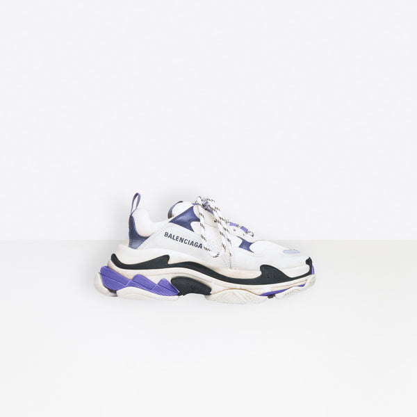 Balenciaga Triple S-White, Purple And Black