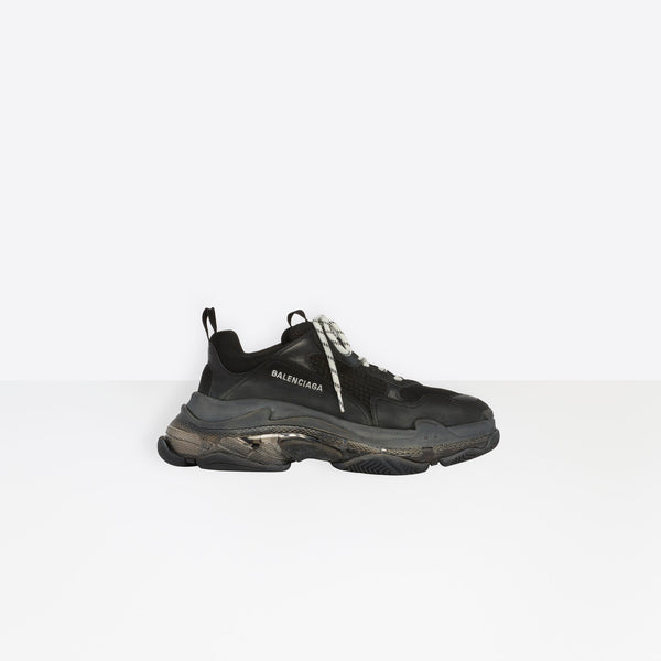 Balenciaga Paris Clear Sole Black