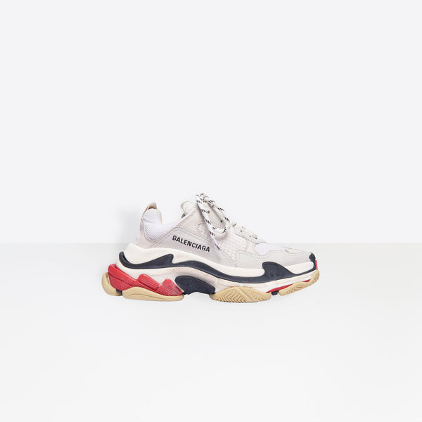 Balenciaga Triple S - White, Red And Black