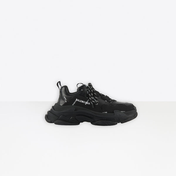 Balenciaga Triple S Allover Logo Black