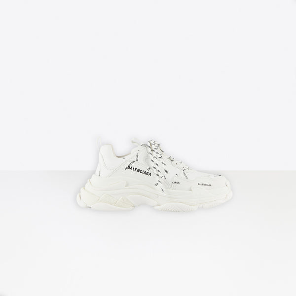 Balenciaga Triple S Allover Logo White