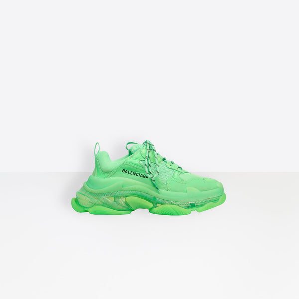 BALENCIAGA Triple S Clear Sole Sneaker Green