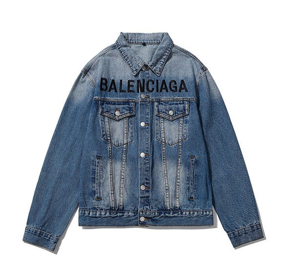 Balenciaga Chest Logo Denim Jacket
