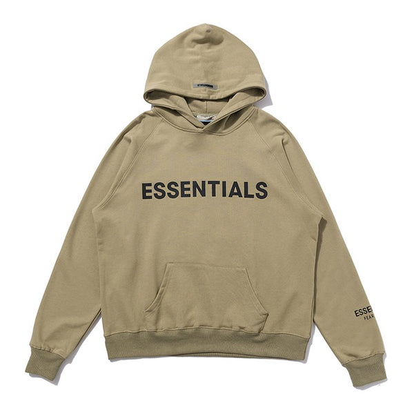 Fear Of God Front Logo Essentıals Hoodie Khaki