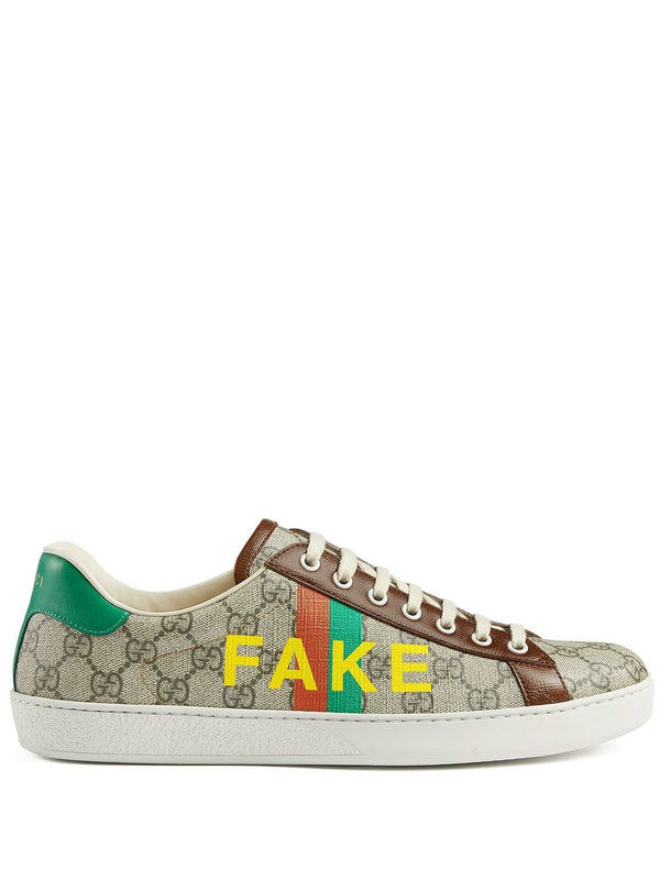 Gucci Fake/Not print Ace sneakers