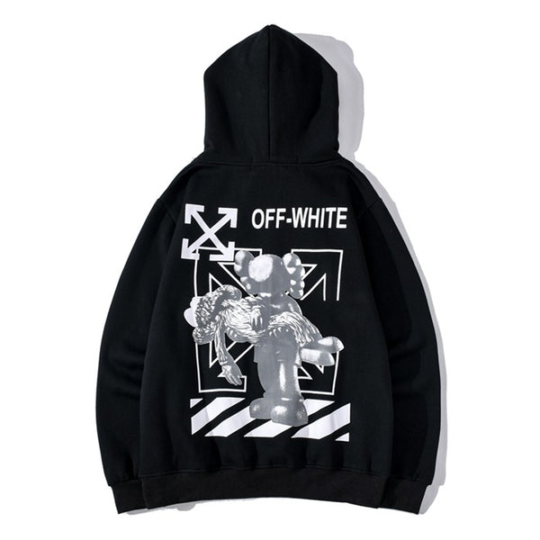OFF-WHITE x KAWS Black Pullover