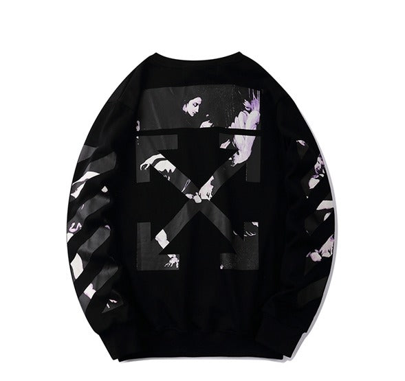 OFF-WHITE Caravaggio Arrows Over Sweatshirt Black