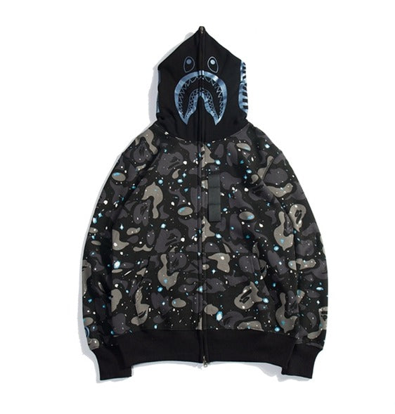 Bape Shark Zipper Hoodie Space