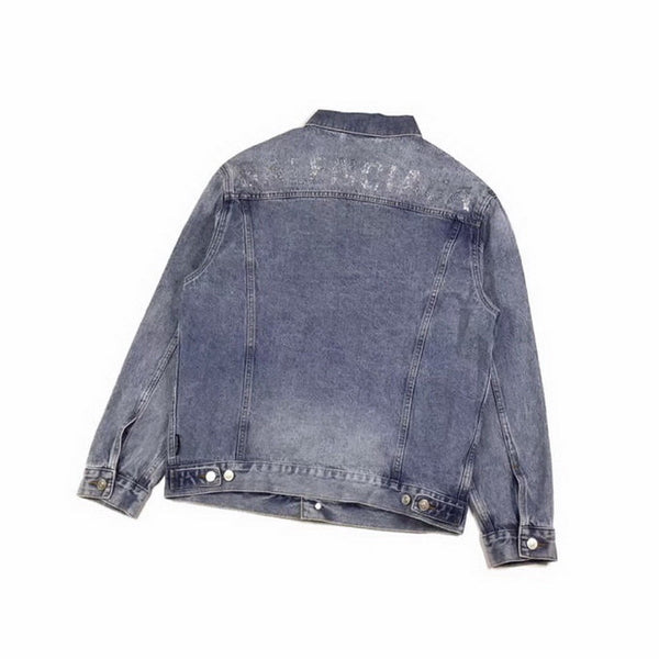 Balenciaga Logo Embellished Denim Jacket