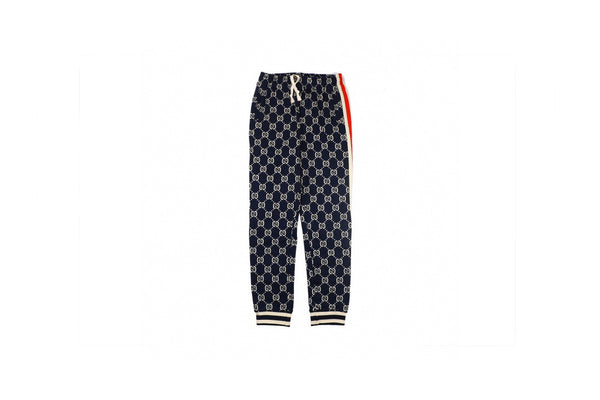 Gucci Jacquard Cottton Sweat Pant Blue/Ivory