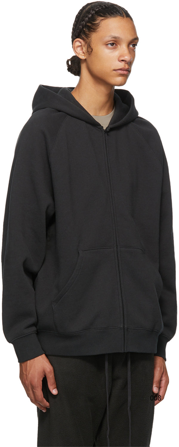 Fear Of God Essentıals Back Logo Zipper Hoodie Black