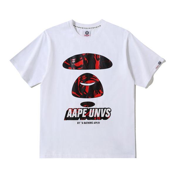 Aape White Red Camo