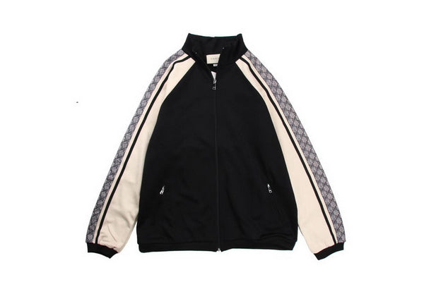 Gucci Side Dark Pattern Webbing Logo Jacket