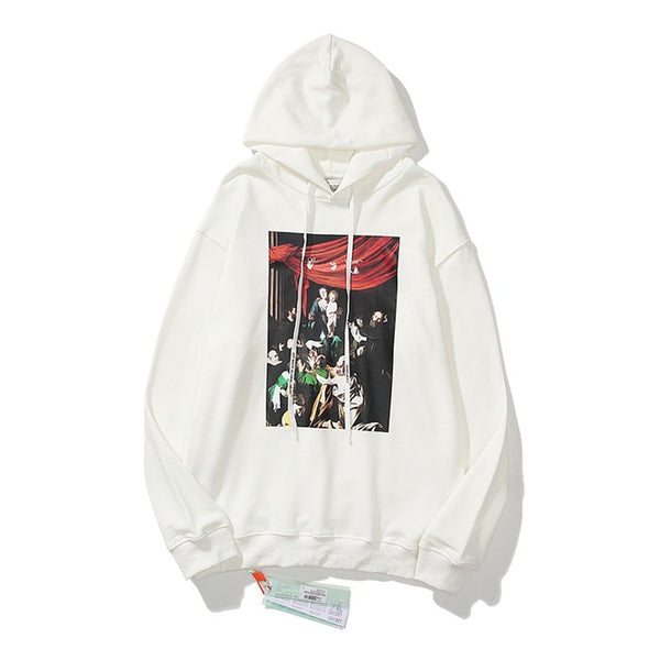 OFF-WHITE CARAVAGGIO Pullover White