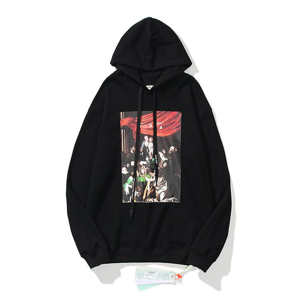 OFF-WHITE CARAVAGGIO Pullover Black