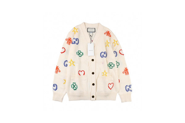 Gucci Rainbow Wool Cardigan