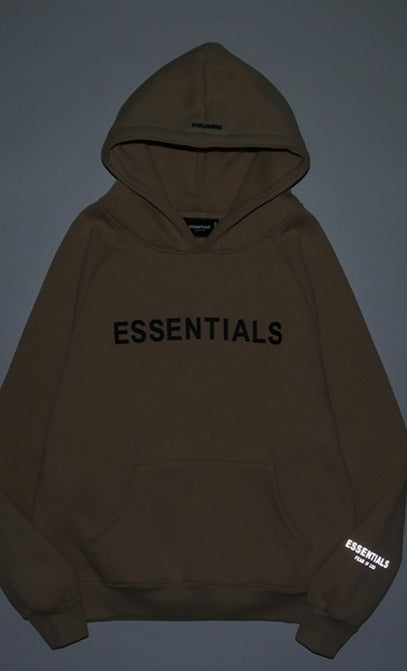 Fear Of God ESSENTIALS Reflective Logo Hoodie Natural