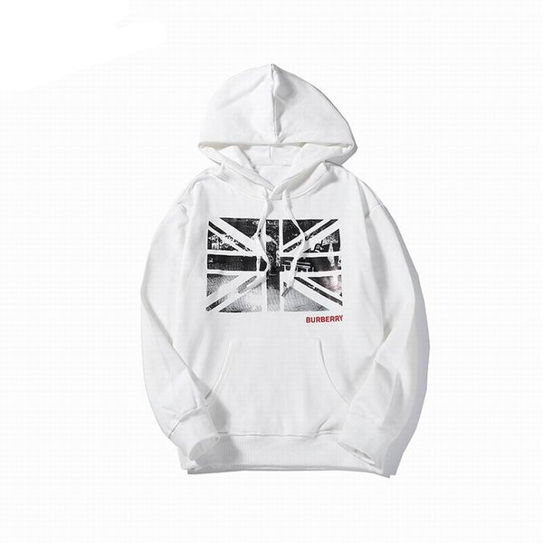 Burberry UK Flag Print Hoodie White