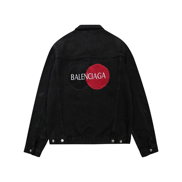 Balenciaga Uniform Logo Jacket -Black