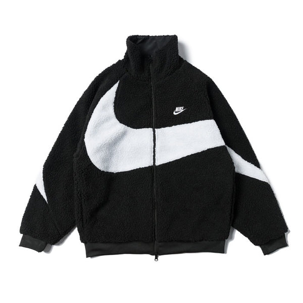 Nike BIG SWOOSH Double Sided Polar Jacket Black/White