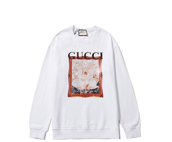 Gucci Art Print Sweatshirt White