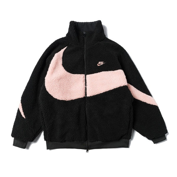 Nike BIG SWOOSH Double Sided Polar Jacket Black/Pink