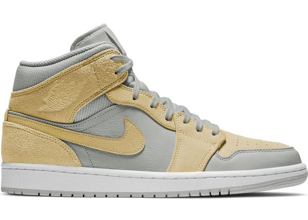 "Air Jordan 1 Mid ""Grey Fog / Lemon Wash"""