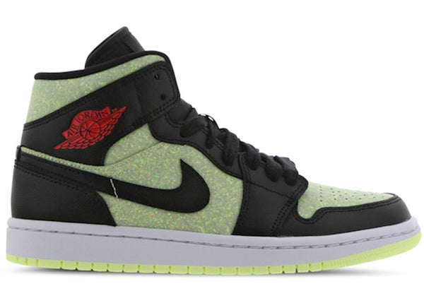 "WMNS AIR JORDAN 1 MID SE ""Barely Volt / Chile Red"""