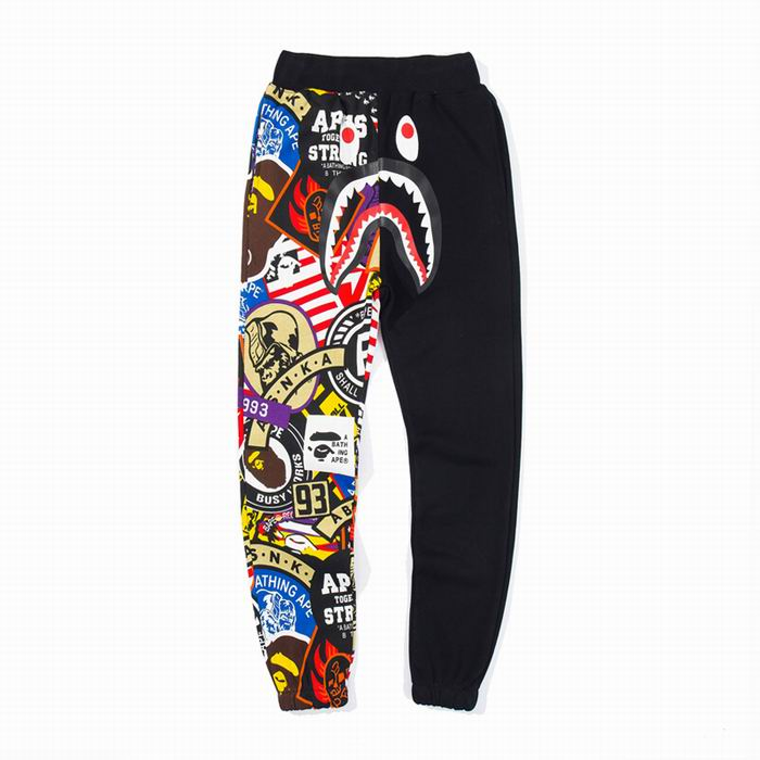 Bape Half Cartoon Black Sweat Pant
