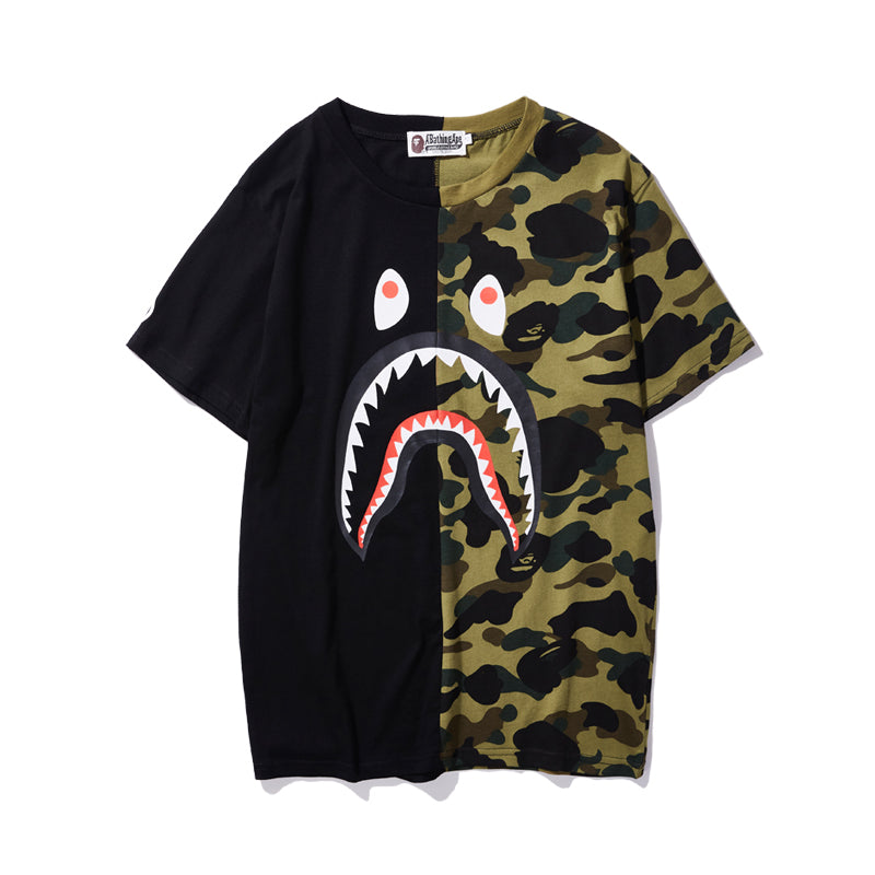Bape Shark Black/Camo Tee