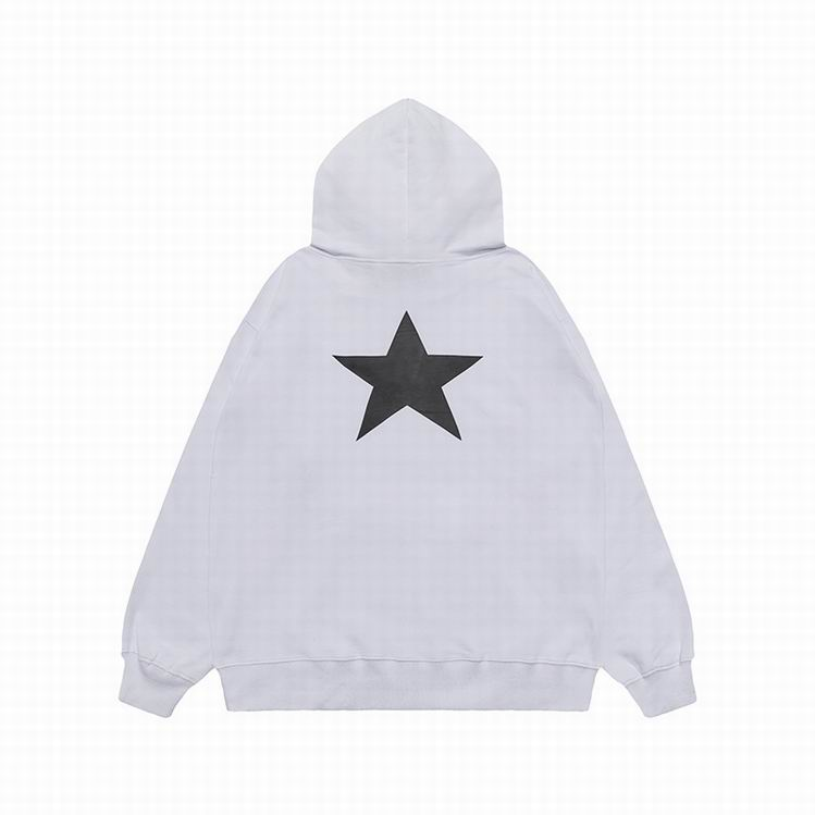Fear Of God Essentials Back Star Logo Hoodie White