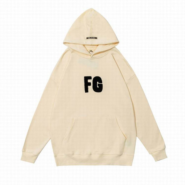 Fear Of God FG Logo Print Hoodie Natural