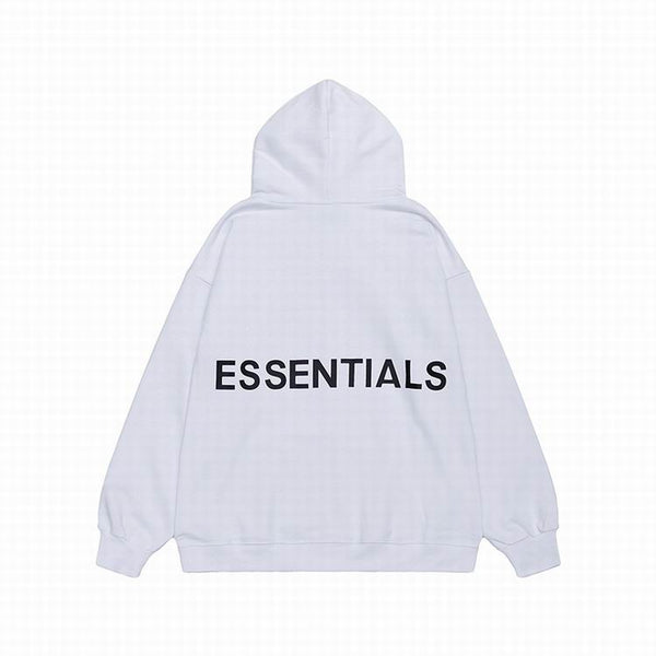 Fear Of God Essentials Back Logo Hoodie White